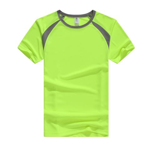 荧光绿运动速干T恤定制