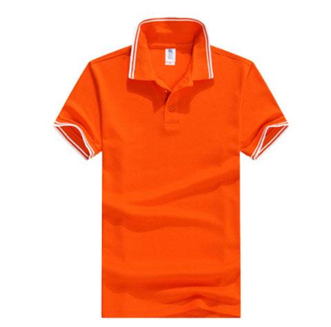 橘色POLO衫定制