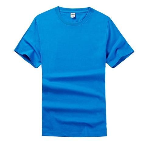 蓝色T恤衫定制