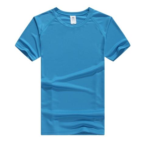 蓝色短袖T恤衫定制