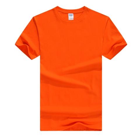 橙色T恤衫定制