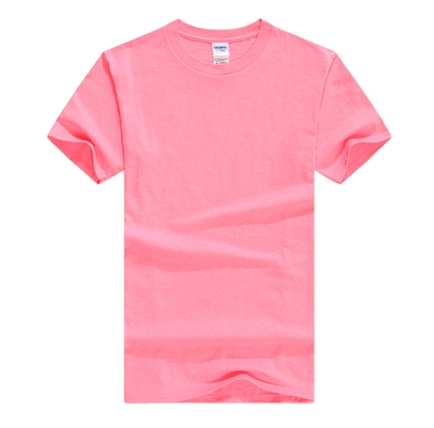 粉色T恤衫定制