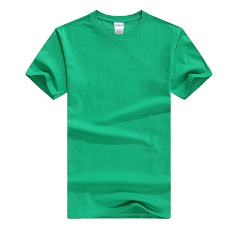 绿色圆领T恤衫定制
