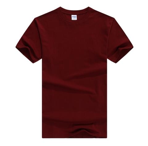 棕色圆领T恤定制