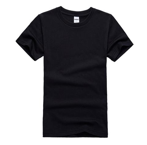 黑色圆领T恤衫定制