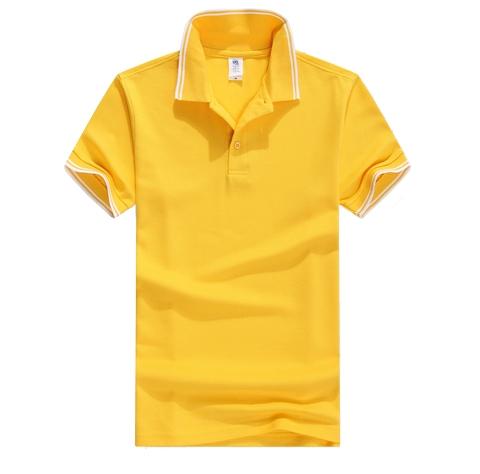 黄色POLO衫定制