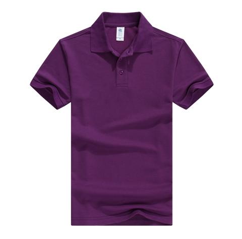 紫色POLO衫定制