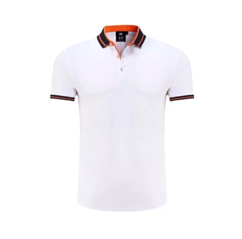 白色时尚POLO衫定制