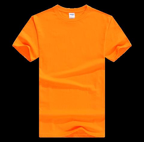 橙色聚会t恤