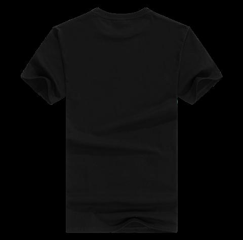 黑色短袖礼品t恤定制