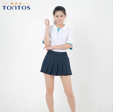 白色短袖POLO衫定制