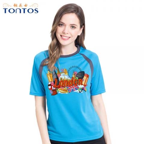 罗湖运动短袖T恤定制