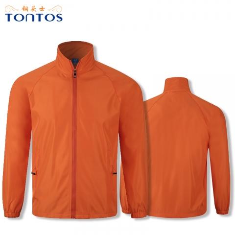 橙色风衣定制