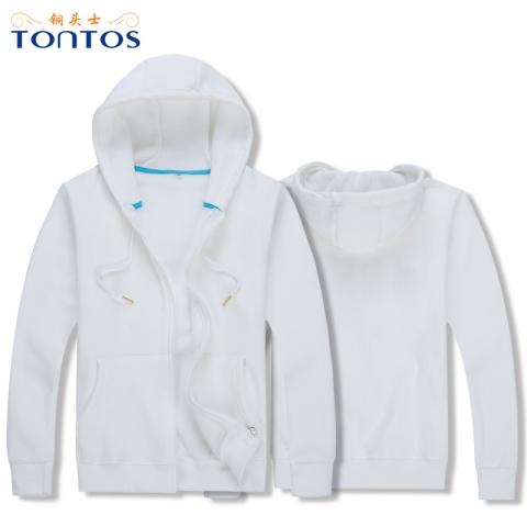 白色连帽卫衣定制