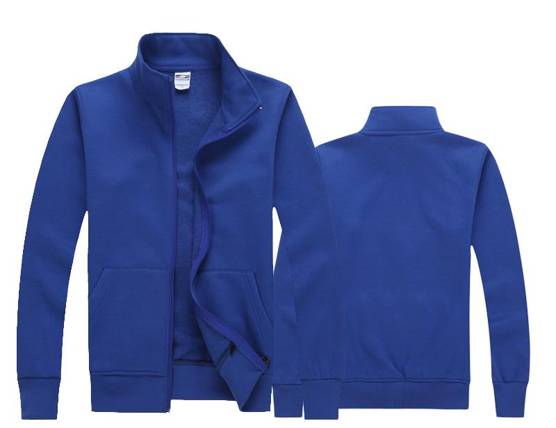 立领纯色卫衣